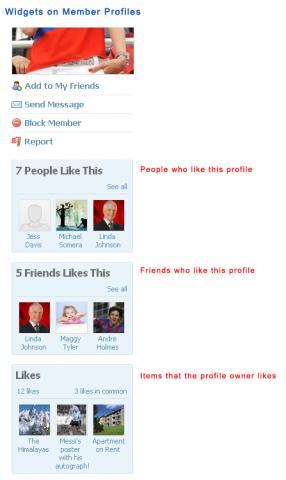 Widgets on Member Profiles