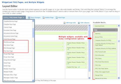 Widgetized FAQ Pages and Multiple Widgets