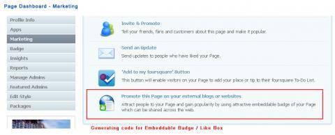 Page Dashboard - Marketing