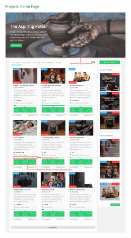 Projects Home Page