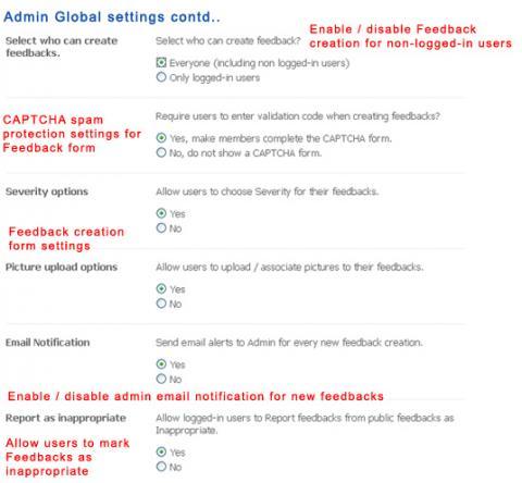 Admin Global settings contd..