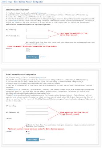 Admin: Stripe / Stripe Connect Account Configuration