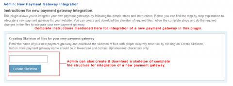 Admin: New Payment Gateway Integration
