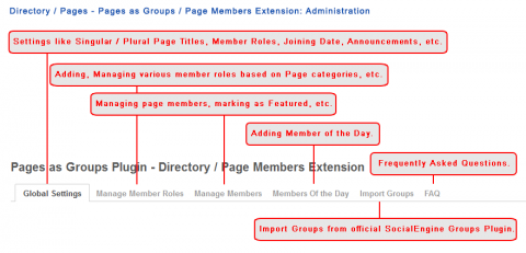 Directory / Pages - Pages as Groups / Page Members Extension: Administration