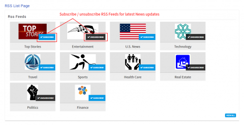 RSS List Page