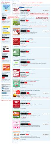 Widgetized Coupons Browse Page (explained)