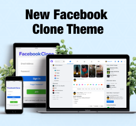New Release - New Facebook Clone Theme : Give Facebook Look & Feel to Website!