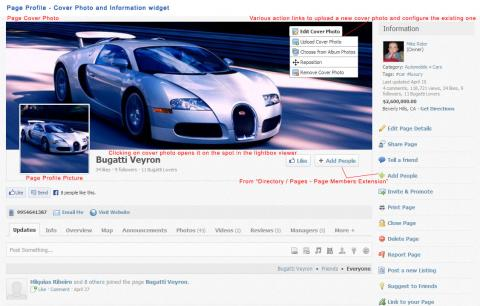 Page Profile - Cover Photo and Information widget