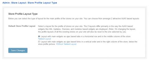 Admin: Store Layout: Store Profile Layout Type