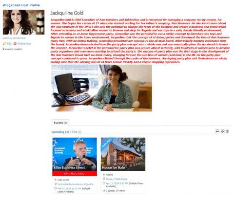 Widgetized Host Profile