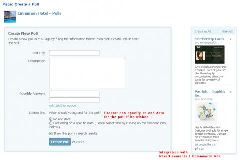 Page: Create a Poll