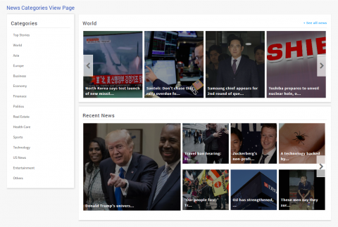 News Categories View Page