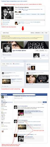 Facebook Page corresponding to your site's content!
