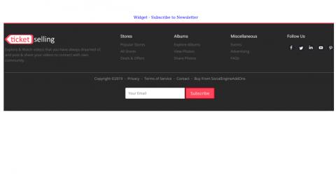Widget: Subscribe To Newsletter