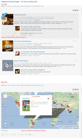 Widgetized Browse Pages - List View and Map View