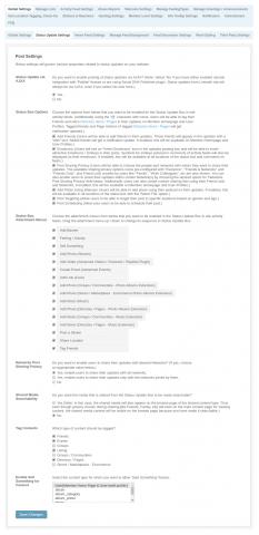 Admin: Global Settings - Status Update Settings