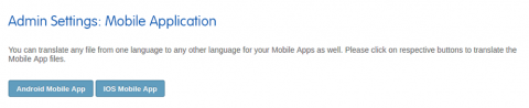 Admin: Mobile Application