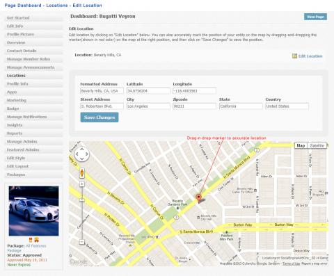 Page Dashboard - Locations - Edit Location