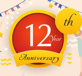 Celebrating 12 Years of Success with 25% Discount on Everything