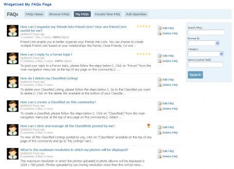 Widgetized My FAQs Page