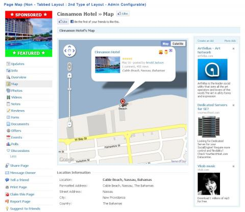 Page Map (Non - Tabbed Layout : 2nd Type of Layout - Admin Configurable)