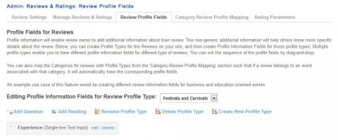 Admin: Reviews & Ratings: Review Profile Fields