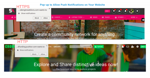 Popup to allow push notification on your site