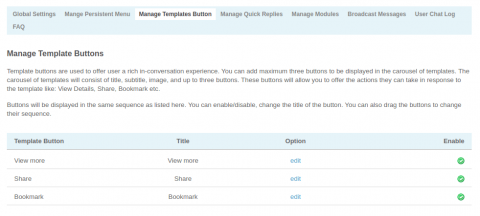 Admin: Manage Template Buttons