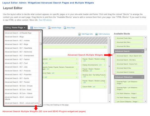 Layout Editor: Admin: Widgetized Advanced Search Pages and Multiple Widgets