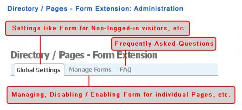 Directory / Pages - Form Extension: Administration