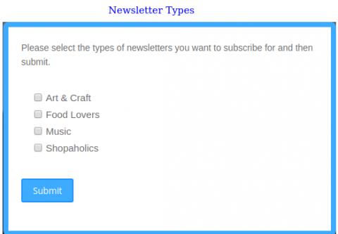 Newsletter Types