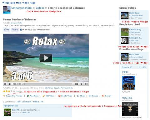 Widgetized Main Video Page