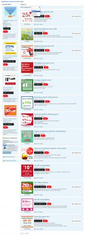 Widgetized Coupons Browse Page