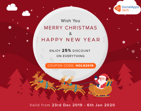 SocialApps.tech wishes you Merry Christmas & Happy New Year 2020