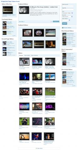 Widgetized Page Videos Home