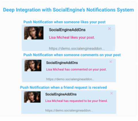 Deep Integration with SocialEngine's Notifications System