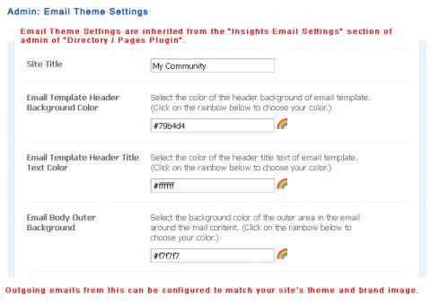 Admin: Email Theme Settings