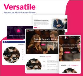 New Release: Responsive Versatile Theme - A Theme to Glorify Your Website