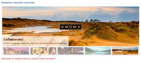 Slideshow transition controller