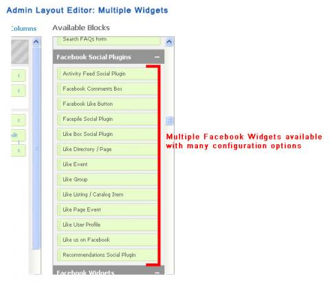 Admin Layout Editor: Multiple Widgets
