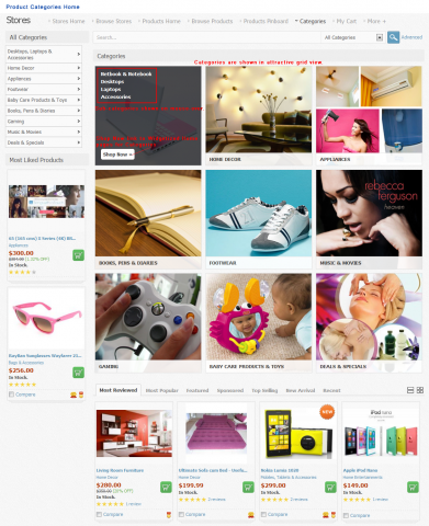 Product Categories Home