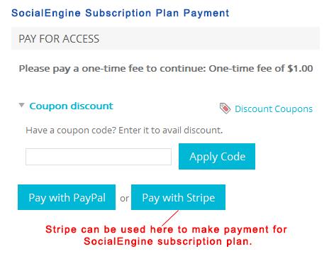 SocialEngine Subscription Plan Payment