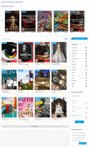 Documents Browse Page (Grid View)