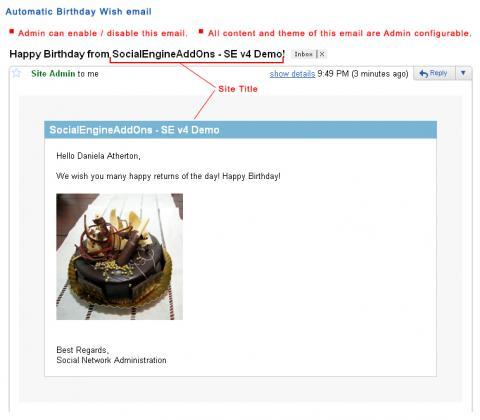 Automatic Birthday Wish email