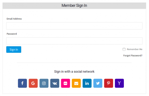 Signin With Social Login Options at the Bottom