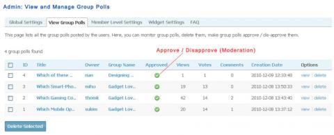 Admin: View and Manage Group Polls