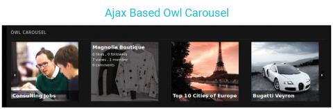Ajax Based Owl Carousel