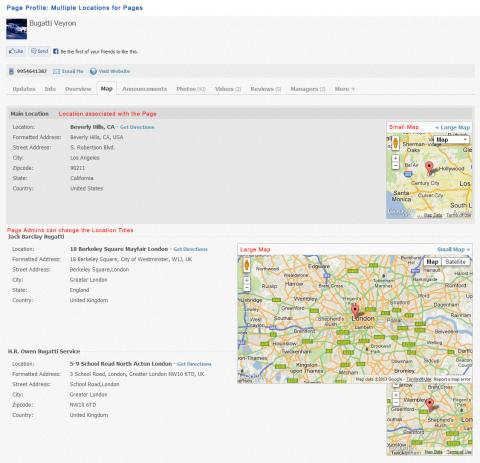 Page Profile: Multiple Locations for Pages