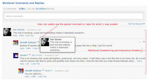 Multilevel Comments and Replies