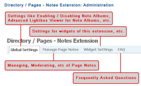 Directory / Pages - Notes Extension: Administration